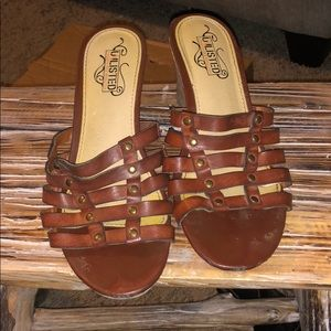 Unlisted  brown and tan women's wedges size 6.5!